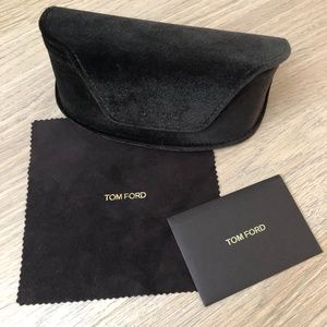 Tom Ford Sunglass Case, Cloth + Authenticity Card